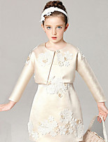 Girl's Cotton Spring/Fall Fashion Lace Dress Shawl Princess Dress