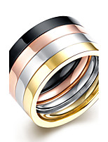 Men's Ring Jewelry Circular Double-layer Multi-ways Wear Costume Jewelry Titanium Steel Round Jewelry For Daily Casual