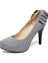 Women's Shoes Microfibre Stiletto Heel Heels/Comfort / Round Toe Heels Outdoor / Casual Black / Green / Red / Gray