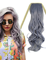 22 inch Granny Grey Body Wave Tape in Synthetic Hair Extension