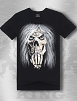 Men's Short Sleeve T-Shirt,Cotton Plus Sizes Print K205