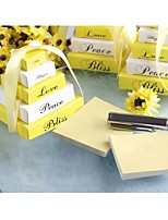Lemon yellow mini memo notepad Wedding Favors Bridal Shower Favors Bridesmaids Gifts