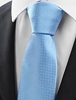 KissTies Men's Necktie Light Sky Blue Dots Wedding/Business/Work/Formal/Casual Tie With Gift Box