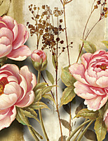 JAMMORY Floral Wallpaper Luxury Wall Covering,Canvas Large Mural Peony