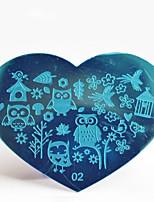 BlueZOO Metal 02 Nail Art Stamping