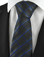 KissTies Men's Checked Pattern Microfiber Tie Formal Necktie Wedding Holiday With Gift Box (3 Colors Available)