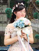 Fleurs de mariage Bouquets Cérémonie de mariage Perle Dentelle Env.24cm