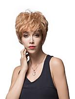 fulffy vague naturelle courte capless remy main de cheveux humains liée perruque de femme -top