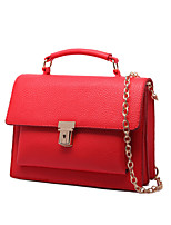 Women-Casual-PU-Shoulder Bag-Red / Gray / Black