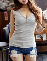 Women's Solid White / Gray / Yellow Vest,Street chic Sleeveless