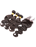 Peruvian Virgin Hair With Closure Unprocessed Virgin Hair Body wave With Closure 4