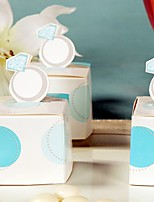 12 Piece/Set Favor Holder - Cubic Card Paper Favor Boxes engagement Ring Candy Box birthday party decoration