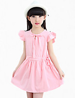 Girl's Blue / Pink Dress,Floral Cotton Summer