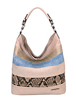 DAVIDJONES/Women PU Shopper Shoulder Bag / Tote / Cross Body Bag-White / Beige / Blue / Black