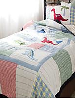2PC Quilt Sets Full Cotton Cartoon Dinosaur Pattern Soft 90