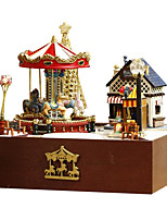 For A Happy Home Diy Hut Trojan Garden Manually Assembled Small House Model Rotating Creative Gift