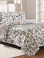 3PC Quilt Sets Full Cotton Euro Floral Pattern 98