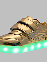 Boys' Shoes Wedding / Outdoor / Casual Patent Leather Fashion Sneakers Pink / Silver / Gold LED shoes