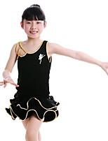 Accesorios(Azul / Fucsia / Oro / Plata,Fibra de Leche,Danza Latina) -Danza Latina- paraNiños Drapeado Representación