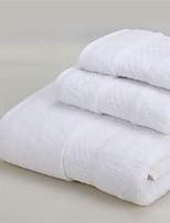 Multicolor Solid Cotton Fabric Bath Towel Set. Wash Towel+Hand Towel+Bath Towel