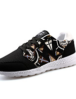 Men's Shoes Casual/Travel/Outdoor Tulle Leather Fashion Sneakers Shoes Black/Bule 39-44