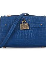 DAVIDJONES/Women-Formal / Casual / Event/Party / Office & Career-PU-Shoulder Bag-Blue