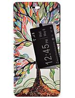 Для Кейс для Huawei со стендом / с окошком / Флип Кейс для Чехол Кейс для дерево Твердый Искусственная кожа Huawei