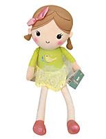 Genuine Spring Girl Doll Plush Toy Doll Baby Doll To Appease Doll Girl Gift Bird Beige Skirt Sitting Height 35Cm