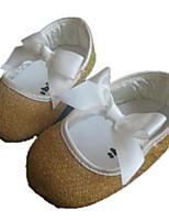 Zapatos de bebé-Planos-Exterior-Purpurina-Oro