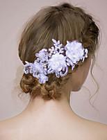 Vrouwen / Bloemenmeisje satijn / Imitatie Parel Helm-Bruiloft / Speciale gelegenheden Hoofdbanden / Bloemen 1 Stuk