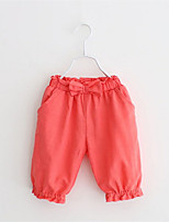 2016 Summer Style Children Pants Girls Short Pants Candy Color Solid Causal Pants with Bow For Baby Girl