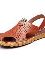 Sapatos Masculinos-Sandálias-Marrom-Couro-Ar-Livre / Escritório & Trabalho / Para Esporte / Social / Casual