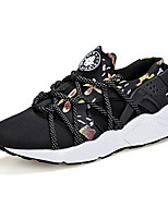 Women's Shoes Tulle Flat Heel Comfort Fashion Sneakers Athletic Black / Red