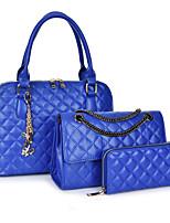 Donna sacchetto regola PU (Poliuretano) Per tutte le stagioni Serata/evento Conchiglia Cerniera Blu Oro Bianco Nero
