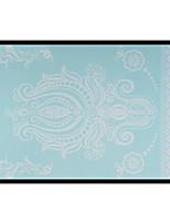 Lovely HENNA Lace Big White Face Sticker 10