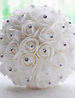 Wedding Flowers Bouquets Wedding Chiffon Bead Satin 7.87
