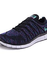 Nike Free Flyknit 5.0 Men's Sneaker Running Shoes Tulle Green / Purple / Red