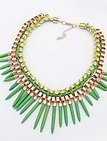 2016 New Women Bohemia Drop Crystal Pendant Chain Choker Necklaces & Pendants Bib Statement Necklace