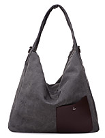 Women-Formal / Casual / Office & Career / Shopping-Canvas-Shoulder Bag-Blue / Brown / Gray / Burgundy
