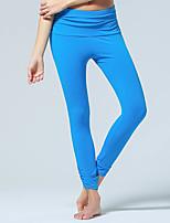 Pantalones de yoga Pantalones Transpirable / Capilaridad / Suave Cintura Media Eslático Ropa deportiva Negro / Azul / Morado Mujer Otros