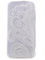 For LG Case Case Cover Transparent Pattern Back Cover Case Flower Soft TPU for LG