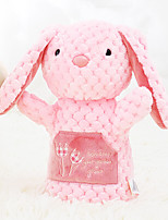 Metoo Microphone Checkered Rabbit Hand Puppet Animal Hand Puppet Series Pink Bunny