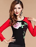 Latin Dance Tops 1 Piece No Skirts Women's Performance Modal Pattern/Print  Fuchsia / Green / Purple / Red 6Sizes