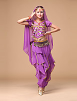Belly Dance Women's Performance Chiffon Coins Sequins Top/Pants/Hip Scarf Outfits