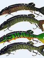 4pcs/lot 20cm 66g Lifelike Multijointed 8 Segement Pike Muskie Fishing Lure Swimbait Crankbait Hard Fishing Bait