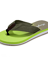 Unisex Sandals Summer Comfort PU Casual Flat Heel Slip-on Black / Yellow / Green / Royal Blue Others