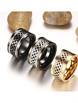 Center Rotating Stainless Steel Men's Ring