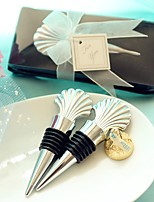 Beter Gifts® Recipient Gifts - 1Box/Set Beach Party Chrome seashell Bottle Stopper Wedding Favors WJ037/F