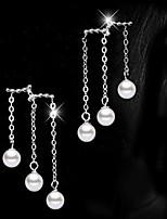 Forma de Círculo,Joyas 1 par Perla Artificial / De Moda / Adorable Plateado Perla / Legierung Fiesta / Diario