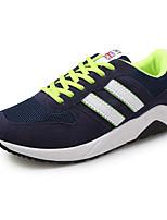 Hombre-Tacón Plano-Confort-Zapatillas de deporte-Deporte-Ante-Negro / Azul